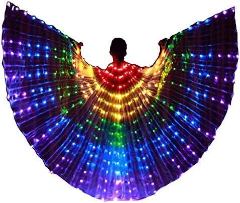 ベリーダンスLEDウィング輝く色ダンスダンスウイングスベリーダンスLEDルミナスプロップマント