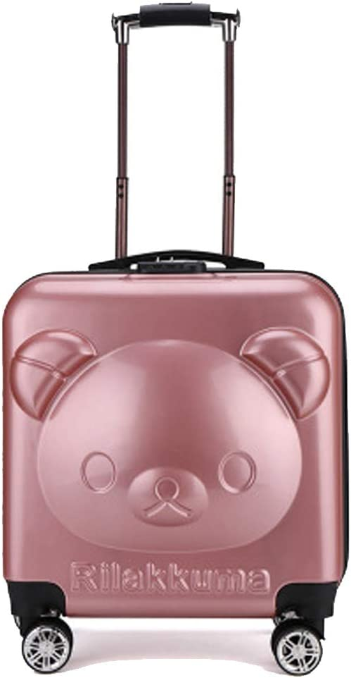 Bear Stand YSZG Childrens Trolley case Gift Suitcase,