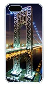 iPhone 5S Cases & Covers -George Washington Bridge Nyc Custom PC Hard Case Cover for iPhone 5/5S ¨C White