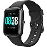 Smartklocka, YONMIG fitnessmätare IP68 vattentät män kvinnor färg full pekskärm fitnessklocka Bluetooth smartklocka med…