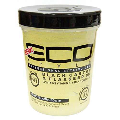 Beauty Logica Eco Style Gel Black Castor & Flaxseed Oil, 32 oz (Best Eco Styler Gel For 4a Hair)