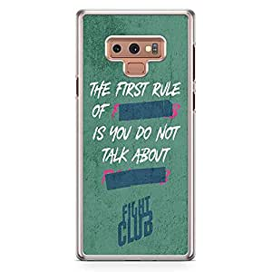 Loud Universe The First Rule of Fight Club Samsung Note 9 Case with Transparent Edges Fight Club Phone Case