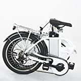 Onway 20 Inch 6 Speed Folding Electric Bicycle, 36V 250W Aluminium Alloy E Bike with Lithium-Ion Battery, White