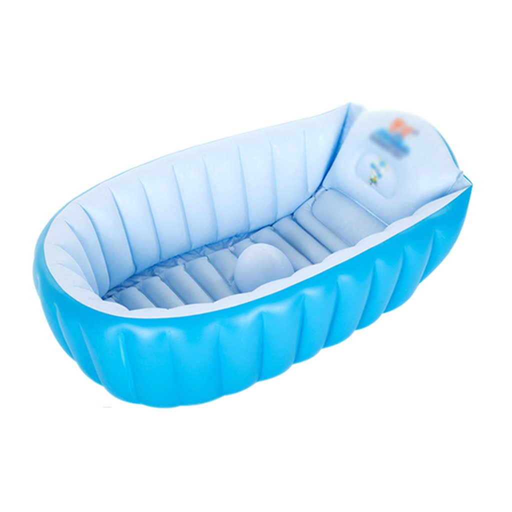 Bathtubs Freestanding Blue Padded Folding Portable Infant Inflatable 956035cm/372414 inches