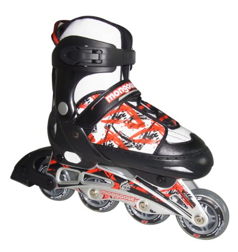 Mongoose Boy's Inline Skates, 1-4 Size/Small by Mongoose