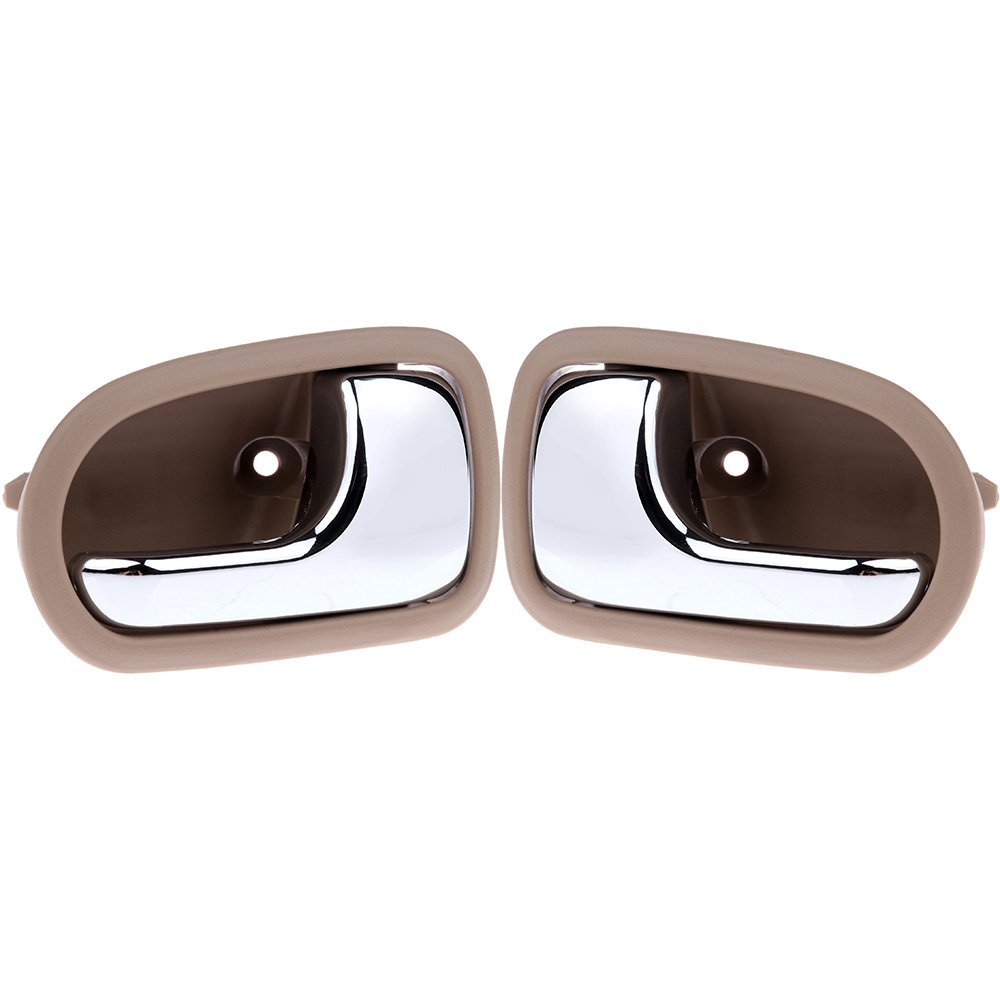 SCITOO Door Handles Interior Front Rear Left Side fit 1995-2003 Mazda Protege 1993-1997 Mazda 626 Beige(2pcs)