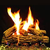 Myard DELUXE 24'' inches Country Oak Fire Gas Logs (LOGS ONLY) for Natural Gas / Liquid Propane Vented Fireplace