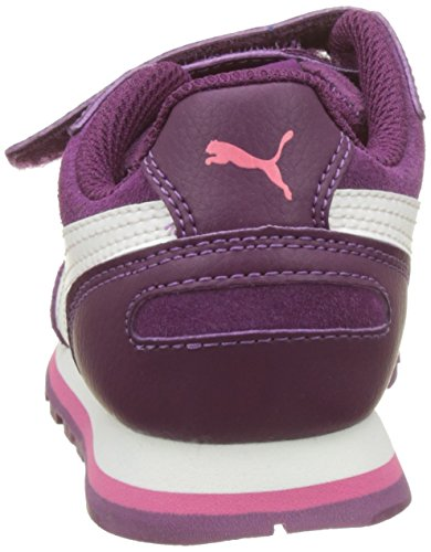 Puma Unisex-Kinder St Runner SD V PS Low-Top Violett (Dark Purple-Marshmallow)