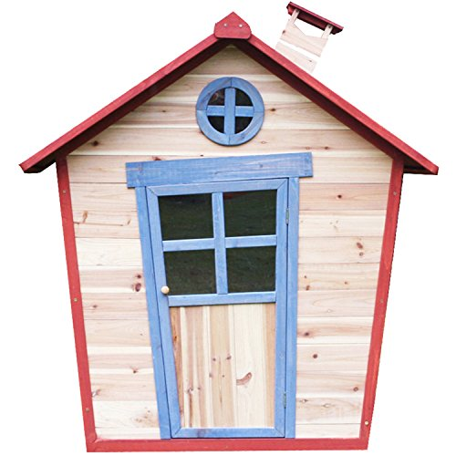 Redwood Lodge Childrens Wooden Playhouse Painted Garden Crooked