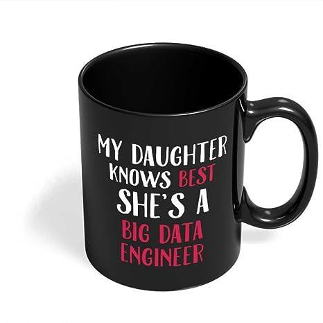 Amazon.com: Big Data ingeniero Dad Papa Mug | Mi Hija es un ...