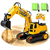 GILI RC Excavator, Kids Toys Remote Control Car for 4, 5, 6, 7, 8 Year Old Boys, 2.4Ghz Construction Tractor Vehicles Gifts for Age 3-10(Sandbox Toys Engineering Truck)- Rechargeable & Full Functional