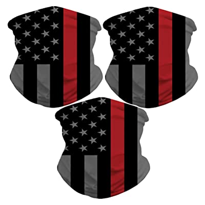 Sibosen 3 Pack American Flag Seamless Rave Bandana Neck Gaiter Tube Headwear Bandanas for Dust Outdoors Festivals Sports, Motorcycle Face Bandana for Women Men Face Scarf: Automotive