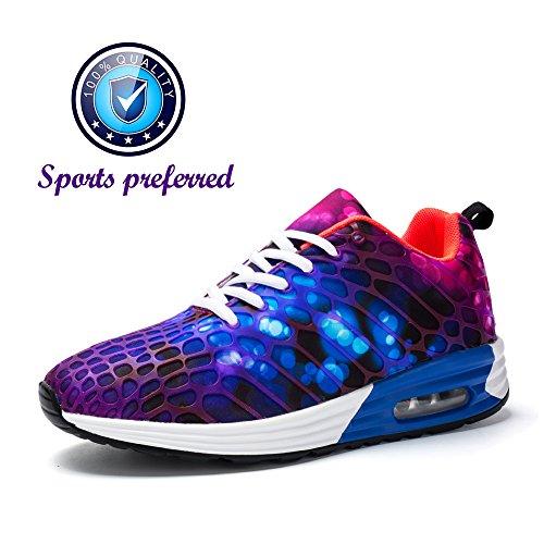 buy online 2a0ff f4064 Mann-beiläufige Turnschuhe athletische gehende Schuhe bequeme  Sport-laufende Schuhe mit Luftpolster Lila (
