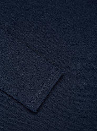 oodji Ultra Mujer Suéter de Cuello Alto Básico Azul (7900N)