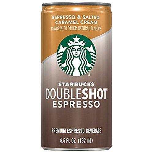 Starbucks Doubleshot Espresso, Salted Caramel, 12 Count, 6.5 fl oz Cans