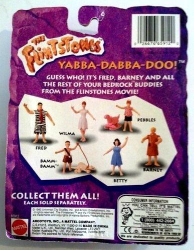 New in Package 1993 Flintstones Barney Rubble Bendable Movie Figure ~ Mattel Hanna Barbera