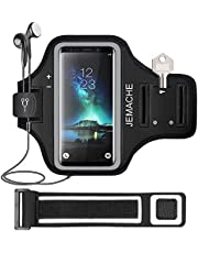 Galaxy S20+ S10+ S9+ S8+ Armband, JEMACHE Gym Sport Running Workouts Arm Band for Samsung Galaxy S20 Plus, S10 Plus, S9 Plus, S8 Plus with Key Holder (Black)