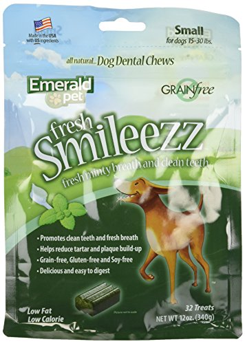 Fresh Smileezz Dog Grain Free Dental Treat Mint Small 12Oz (Dental Mint Rawhide)