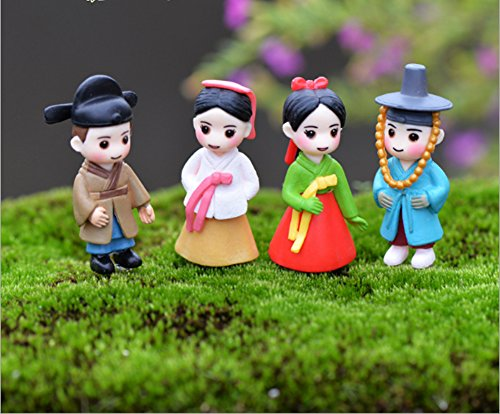 Asian people figurines