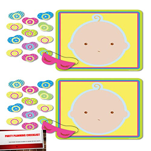 Pin The Pacifier Baby Shower Game (2 Pack) ()