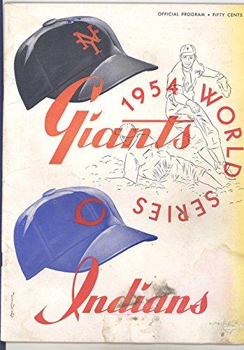 1954 New York Giants Baseball (1954 World Series Program New York Giants Vs Cleveland Indians)