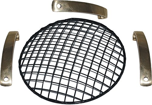 Brand Royal Enfield Customised Head Light Grill For 7 Head Lamp Black with brakets (Royal Enfield Parts)