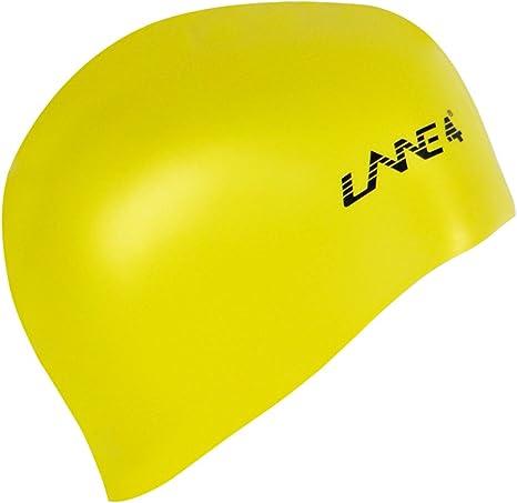 LANE4 Gorro de natación de Silicona Impermeable Ligero Profesional ...