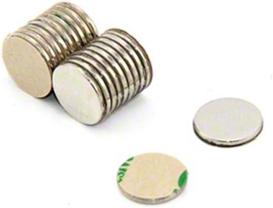 40x magneti autoadesivi al neodimio N52 Disco 10x1 mm Calamite N52 con Pellicola Adesiva Magnetastico Forti magneti Adesivi con Nastro Adesivo di Marca 3M Forza Adesiva Molto Elevata