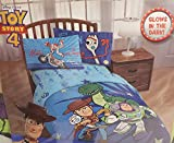 Toy Story 4 Glow in The Dark Bedding Set Comforter and Sheets (Twin Size)