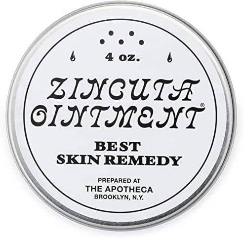 Zincuta Skin Ointment for Psoriasis, Eczema, Dry Skin, Chapped Lips, Poison Ivy Blisters, Burn Injuries, and Many More Skin Ailments (4 Ounce)