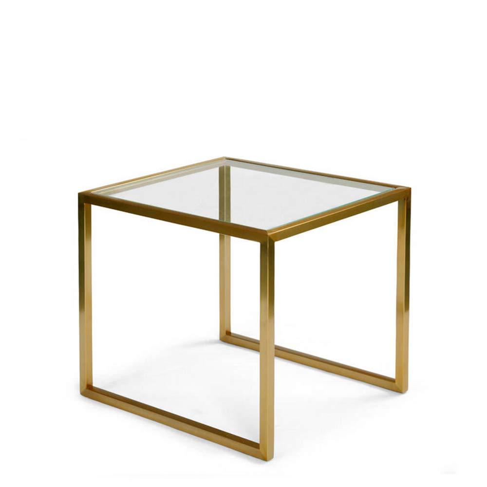 Enolla Modern Minimalist Creative Coffee Table Living Room Bedroom Sofa Wrought Iron Glass Table