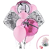 Paris Eiffel Tower Damask Party Supplies - Balloon Bouquet