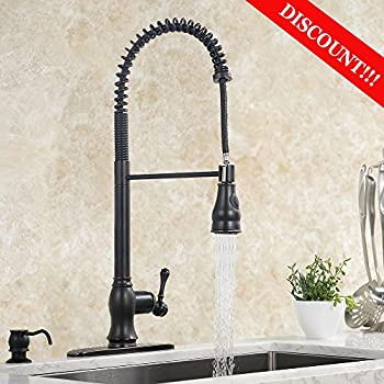Vigo Single Handle Pull Out Sprayer Kitchen Faucet Amazon