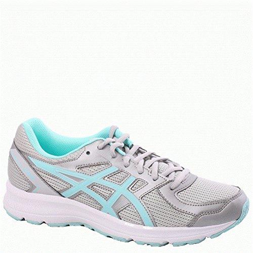 ASICS Women's T7K8N.9667 Jolt Running Shoes, Glacier Grey/Aqua Splash/White, 6.5