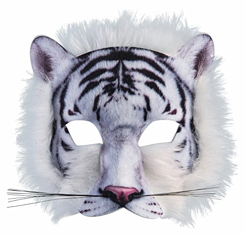 Forum Novelties 3D Print Costume Half Mask: White - Costume Mask