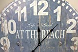 23-Large-At-the-Beach-Blue-Wall-Clock-Wooden