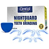 Mouth Guard for Teeth Grinding -Pack of 6- Custom Mouldable Dental Night Guard - Prevent Bruxism,Tmj & Eliminates Teeth Clenching. Includes Fitting Instructions & Anti-Bacterial Case included.