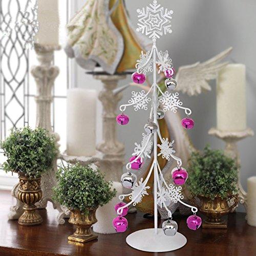 Mesa escritorio pequeño copo de nieve forja mini árbol de Navidad ...
