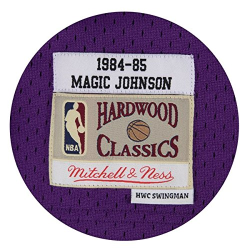 Amazon.com   Mitchell   Ness Los Angeles Lakers Mens Jersey 32 Magic  Johnson Swingman Purple   Sports   Outdoors 6f88597c9