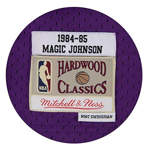 Amazon.com   Mitchell   Ness Los Angeles Lakers Mens Jersey 32 Magic  Johnson Swingman Purple   Sports   Outdoors 6f88597c9