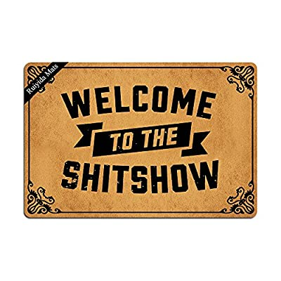Ruiyida Welcome To The Shitshow Entrance Floor Mat Funny Doormat Door Mat Decorative Indoor Doormat Non-woven 23.6 By 15.7 Inch Machine Washable Fabric Top
