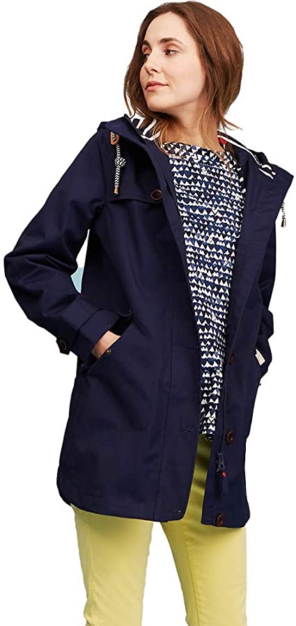 Joules WomensLadies Y Coast Mid Length Waterproof Raincoat Jacket