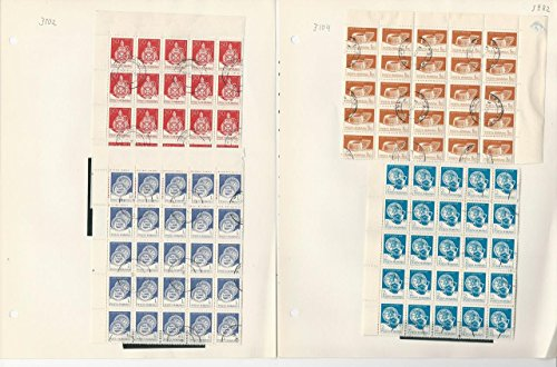 (Romania Collection 1982 on 12 Pages, 3102//3117 Used Blocks)