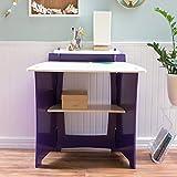 Legare 34-Inch Kids' Desk, Purple and White