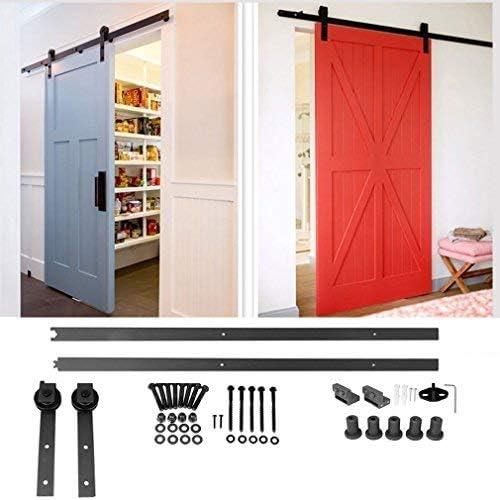 homgrace Kit de puerta corrediza Polea de Rail suspendida sistema de puerta corredera conjunto completo para puertas interiores correderas tabiques granero armario Hardware acero inoxy 1 m/3.3ft: Amazon.es: Bricolaje y herramientas