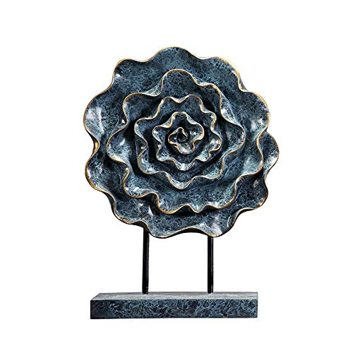 MSchunou New Chinese Nordic Peony Flower Ceramic Crafts Creative Home Living Room Entrance Office Tea Room Desktop Decoration Decoration (Size : Large) -