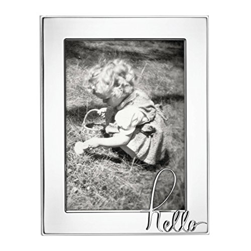 "Kate Spade New York In A Word Hello 5x7"" Picture Frame, Silver-Plated Metal"