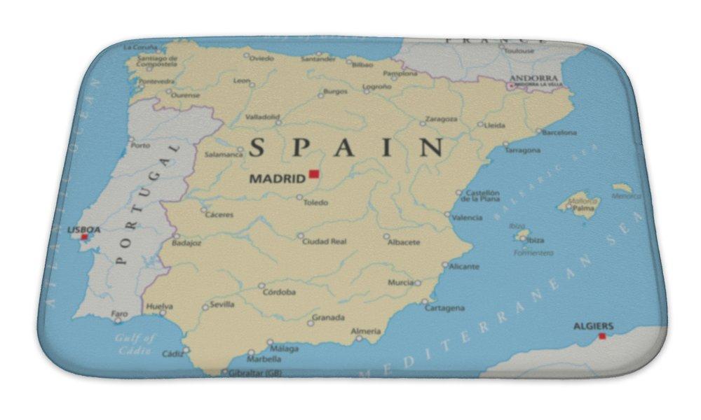 Amazon.com: Gear nueva España Mapa Alfombra de baño (Mat no ...