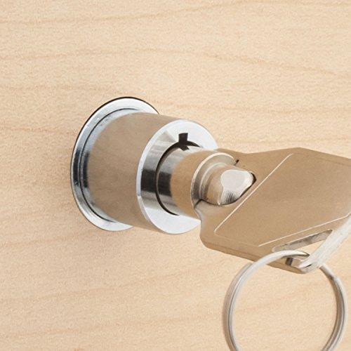 FJM Security 2612L-KA Push Lock with Chrome Finish, Keyed Alike Photo #6