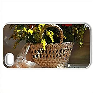 Basket of flowers - Case Cover for iPhone 4 and 4s (Flowers Series, Watercolor style, White) by icecream design